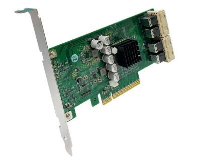 QIP4X-PCIE8XG301|Internal Quad PCIe x4 (four SFF-8643 36pin) to PCIe x8 Gen 3 Switch Host Card