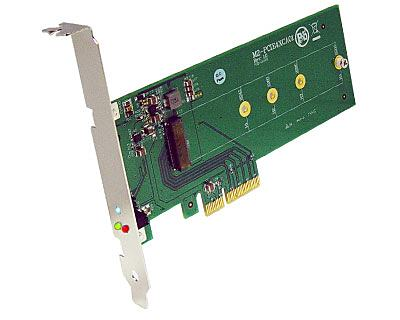M2-PCIE4XCA01|M.2 (Socket 3 Key M PCIe-based SSD Module Pinout) to PCI Express x4 Adapter