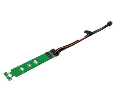 IPCIE4XM203CXXPYY|Mini-SAS HD (SFF-8643) 4i plug to PCIe M.2 Adapter Dongle w/SATA 15pin Power