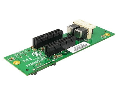 DIPCIE4XD01|Mini-SAS HD (SFF-8643) to PCIe x4 Slots Board