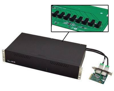 EDLP-D4XE1X80|Eight PCIe x1 Gen 2 Slots Expansion Docking Station (2U Rack Mount Chassis)