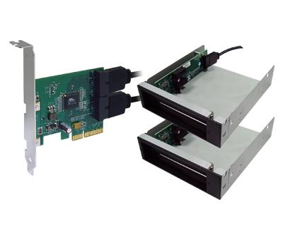 IP4X-2D1X|PCI Express x4 to four PCI Express x1 slots Docking System