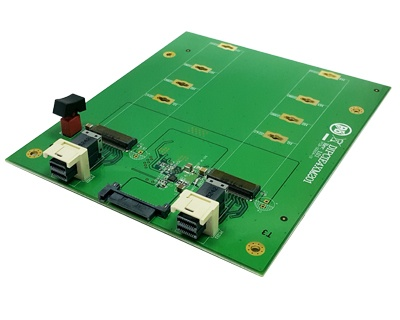 DIPCIE4XM201|SFF-8643 to M.2 (Socket 3 Key M PCIe-based SSD Module Pinout) 2-in-1 Docking Board