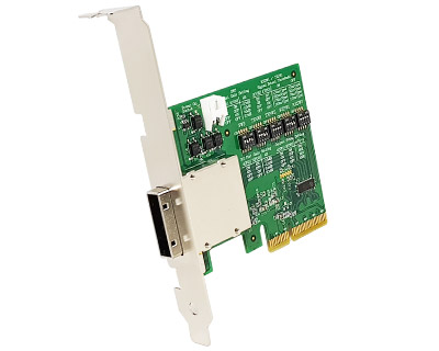 EPCIE4XRDCA01A-T|External PCIe (iPass x4 38pin compatible) to PCIe x4 Gen 3 Active (Redriver with Linear Equalization) Target Cable Adapter