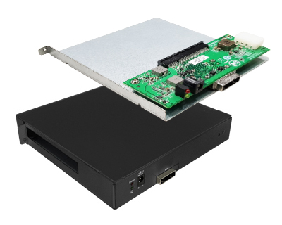 EPCIEX4D01|External PCIe x4 to PCIe x8 (x4 mode) Slot Docking Enclosure