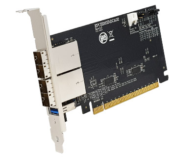 EPCIE16XRDCA02A|External PCI Express (two SFF-8644 1x2) to PCIe x16 Gen 3 Active (Redriver with Linear Equalization) Cable Adapter Card