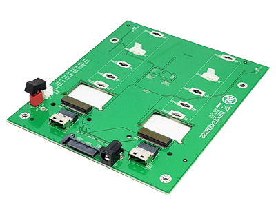 DIPCIE4XM222|SFF-8654 to M.2 (Socket 3 Key M PCIe-based SSD Module Pinout) 2-in-1 Docking Board