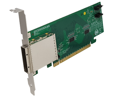 EPCIE16XRDCA01|External PCIe (iPass x16 136pin compatible) to PCIe x16 Gen 3 Active (Redriver with Linear Equalization) Cable Adapter
