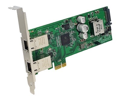 GEPX2-PCIE1XE301|Dual 10/100/1000M Ethernet (POE+) to PCI Express x1 Gen 2 Host Card
