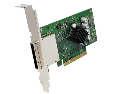 EP8X-PCIE8XG301|Externall PCIe (iPass x8 68pin compatible) to PCIe x8 Gen 3 Switch Host Card