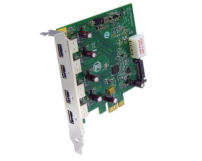 U3-PCIE1XG211|4-port USB 3.0 to PCI Express x1 Gen 2 Host Card