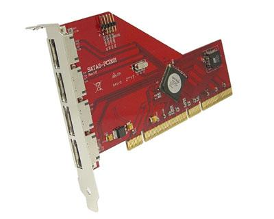 SATA2-PCIX01|4-port SATA II to PCI-X RAID Host Card (External) featuring Silicon Image Sil3124 SATA Host Controller